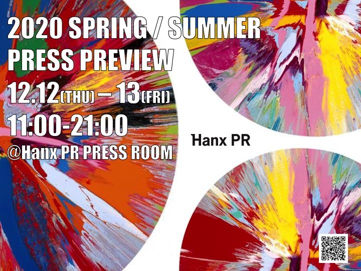 HanxPR 2020 SPRING / SUMMER PRESS PREVIEW 開催いたします。